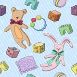 pattern of childrens toys  Royalty Free Stock Images