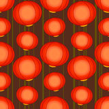 Pattern with chinese lamps. Vector background with chinese lamps Royalty Free Stock Photography