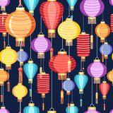 Pattern Chinese lanterns Stock Photo