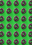 The pattern of chocolate cookie Royalty Free Stock Image