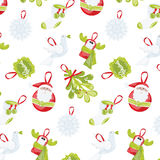 Pattern with Christmas Stock Images