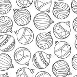 Pattern With Christmas Balls Stock Images