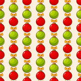 Pattern with christmas balls. Vector seamless background. Stock Image