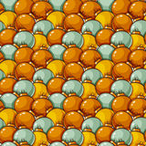 Pattern with christmas balls. Vector seamless background. Christmas and New Year seamless pattern. Vector background with gold and silver christmas balls Royalty Free Stock Photos