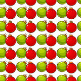 Pattern with christmas balls. Vector seamless background. Royalty Free Stock Photography