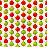 Pattern with christmas balls. Vector seamless background. Stock Photo