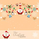 Pattern Christmas Happy New year vector illustration