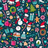 Pattern of Christmas and New Year Stock Photo
