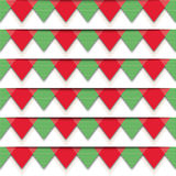 Pattern-christmas-red-green. Vector seamless colorful pattern. Vector seamless texture. Vector Christmas background. Оrigami New Year patern. Vector Merry Royalty Free Illustration