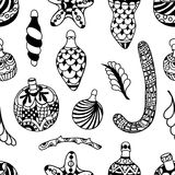 Pattern with christmas Stock Photography