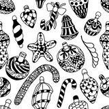 Pattern with christmas Stock Photos