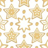 Pattern Christmas sweets royalty free illustration
