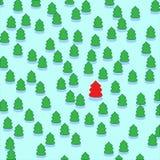 Pattern of christmas tree. Cartoon seamless pattern of christmas tree. Vector illustration Stock Images