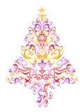 Pattern christmas tree Stock Photo