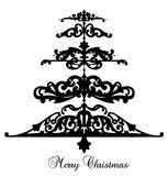Pattern Christmas Tree Background. Vector Stock Image