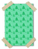 Pattern of christmas tree on paper stuck with tape Royalty Free Stock Images