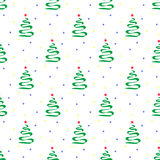 Pattern of christmas tree. Vector seamless pattern of christmas tree Royalty Free Stock Photo