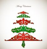 Pattern Christmas Tree on white Background. Vector Stock Photography