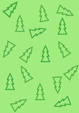 Pattern with christmas trees Stock Photography