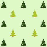 Pattern with Christmas trees Royalty Free Stock Photography