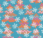 Pattern with Christmas Trees. Royalty Free Stock Photos