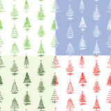 Pattern of Christmas trees Stock Image