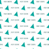 Pattern with Christmas trees Stock Photo
