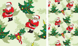 Pattern with Christmass objects Royalty Free Stock Image