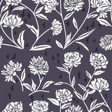Pattern with Chrysanthemum Flowers Royalty Free Stock Photography