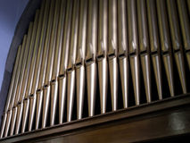 Pattern of church organ pipes. Royalty Free Stock Photography