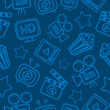 Pattern cinema doodles Royalty Free Stock Photo