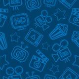 Pattern cinema doodles Royalty Free Stock Photo