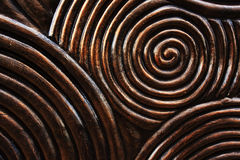 Pattern of circle carved on wood. Background Stock Photos