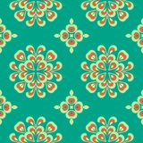 Pattern circle. Pattern  floral complex seamless circle Stock Photos