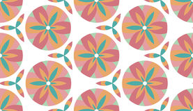 Pattern circle. Pattern  floral complex seamless circle Royalty Free Stock Photo