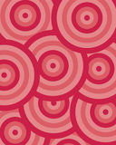Pattern circle red Stock Images