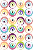 Pattern with circles. Illustration of moder pattern with pastel colors circles Stock Photography