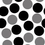 Pattern with circles, dotted background. Seamlessly repeating. vector illustration