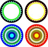Pattern of circles Royalty Free Stock Photos