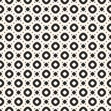 Pattern with circles, rings and dots. Repeat design for prints, decor, fabric, cloth, wrapping. Vector seamless pattern with circles, rings and dots. Simple Stock Illustration