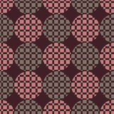 The pattern of circles and squares. Background vector illustration of seamless pattern of colored circles and squares stock illustration