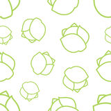 Pattern Circuit Ð¡abbage. Seamless texture of colored contours on a white background cabbage Stock Illustration