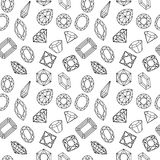 Pattern of circuit cut gems on white Royalty Free Stock Images