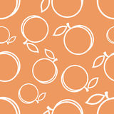 Pattern Circuit Peaches Royalty Free Stock Photos