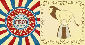 Pattern of the circus Stock Photography
