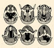 Pattern of the circus. Stock Image