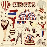Pattern of the circus. Circus Starr getting showered ,vintage Poster Royalty Free Stock Photos