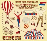 Pattern of the circus. Circus Starr getting showered ,vintage Poster Stock Images