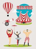 Pattern of the circus. Circus Starr getting showered ,vintage Poster Royalty Free Stock Image