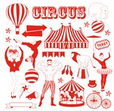 Pattern of the circus. Circus Starr getting showered ,vintage Poster Stock Image